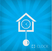 Illustration of old clock icon — Stock Vector