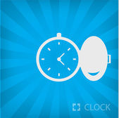 Illustration of pocket watch icon — Stock Vector