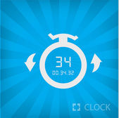 Illustration of stopwatch icon — Stock Vector