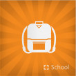 Stock Vector: Illustration of schoolbag icon