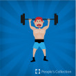 Stock Vector: Weight-lifter