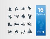 иллюстрация отдых иконки — Cтоковый вектор
