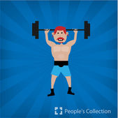 Weight-lifter — Stock Vector