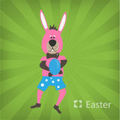 Illustration of Easter Bunny — Stock Vector