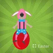 Illustrazione del coniglietto di pasqua — Vettoriale Stock