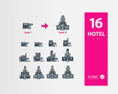 Illustration of hotel icons — Stock Vector