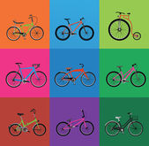 Illustration of bicycles — Stock Vector