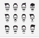 Face with Mustaches (hipster) — Stock Vector