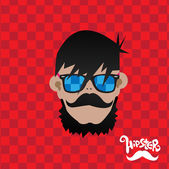 Illustration of Hipster man — Stock Vector