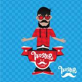 Illustrazione dell'uomo hipster — Vettoriale Stock