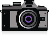 Illustration of camera — Vector de stock