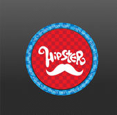 Illustration of hipster style label — Vector de stock