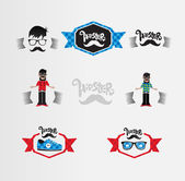 Hipster labels — Stockvector