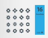 Snowflakes icon set — Stock Vector
