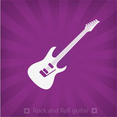 Illustration of Electric guitar icon — Stock Vector