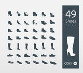 Illustration of Shoes icons set — Stock Vector