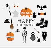Illustration of Halloween Siluettes — Vector de stock