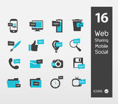 Illustration of Minimal Styled web Icons — Stock Vector
