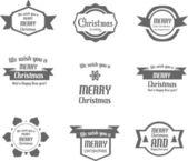 Illustration of Set of Christmas signs — ストックベクタ