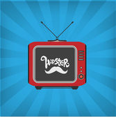 Vector illustration of old TV — Stock Vector