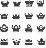 Vector illustration of crown set — Stock Vector
