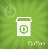 Vector illustration of Coffee box icon — Stock Vector