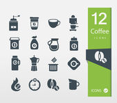 Vector illustration of Coffee icons set — Stock Vector