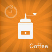 Vector illustration of Coffee grinder icon — Stock Vector