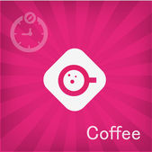 Vector illustration of Coffee icon — Stock Vector