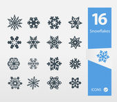 Vector illustration of Snowflake icons set — Stock Vector