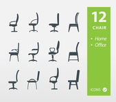 Set of chair Offife & Home — 图库矢量图片