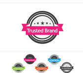 Vector illustration of Trusted Brand icons — Stock Vector