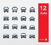 Auto icons in flat style — Stock Vector