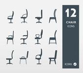 Chair Offife and Home Set — Vector de stock