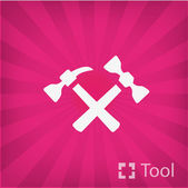 Hammers icon — Stock Vector