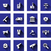 Police icons set — Stock Vector