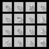 ícones de relógio — Vetor de Stock