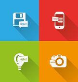цифровые значки — Cтоковый вектор