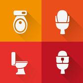Wc ,Toilet icon — Stock Vector