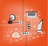 ícones eletrônicos — Vetorial Stock