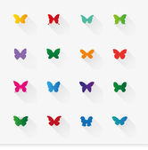 Butterfly signs — Stock Vector