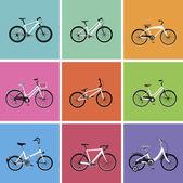 Icônes de bicyclette — Vecteur