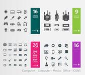Varios iconos — Vector de stock