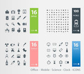 Various icons — Stock Vector