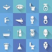 Toaleta ikony — Wektor stockowy