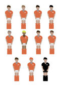 Netherland soccer players — Stock Vector