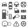 Car parts icons — Stock Vector #46963907