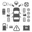 Car parts icons — Stock Vector #46963909