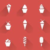 冰淇淋图标集 — 图库矢量图片