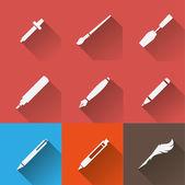 Skriva verktyg ikoner set — Stockvektor